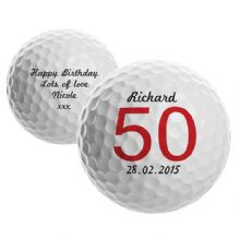 Big Numbers Birthday Golf Ball